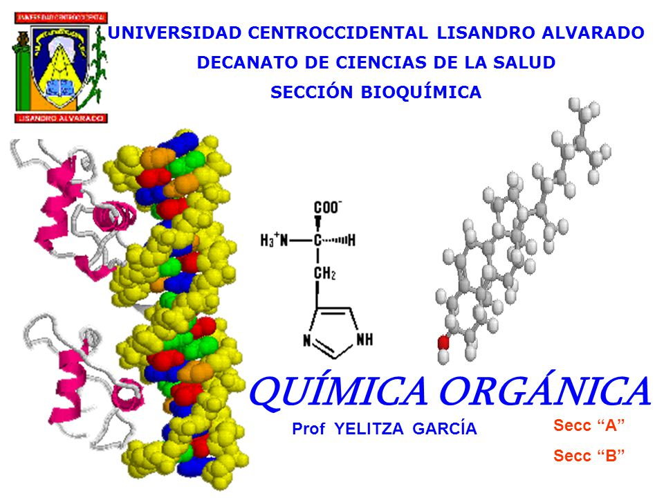 QUÍMICA ORGÁNICA UNIVERSIDAD CENTROCCIDENTAL LISANDRO ALVARADO