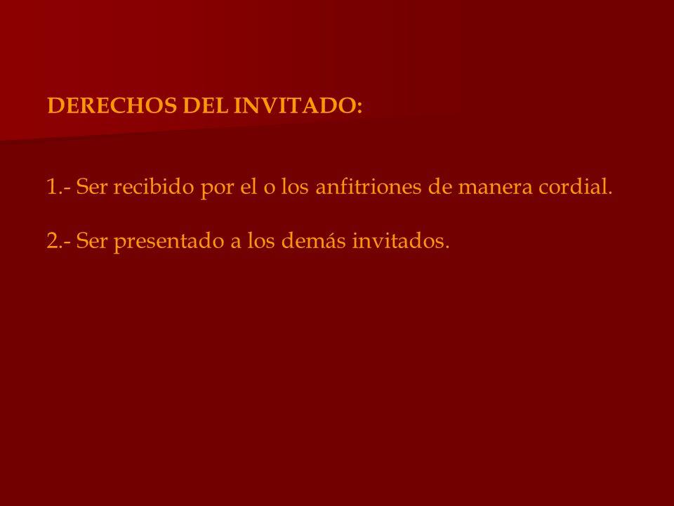 DERECHOS DEL INVITADO:
