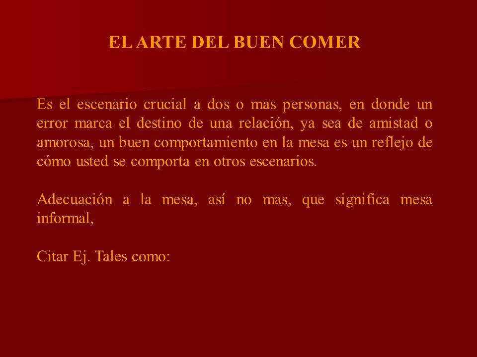 EL ARTE DEL BUEN COMER