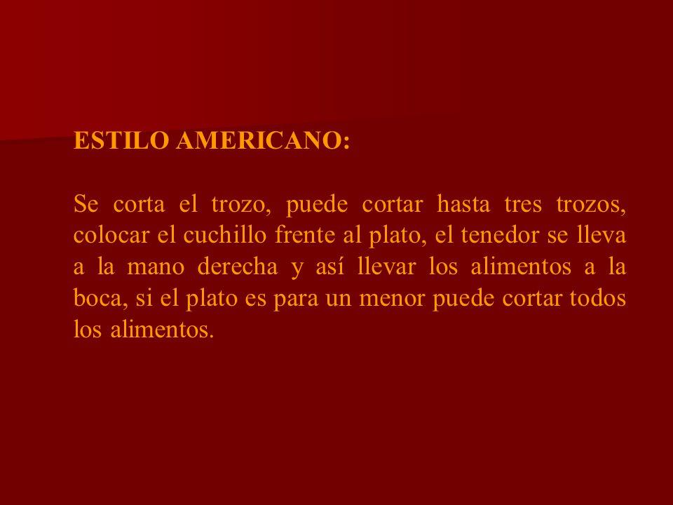 ESTILO AMERICANO: