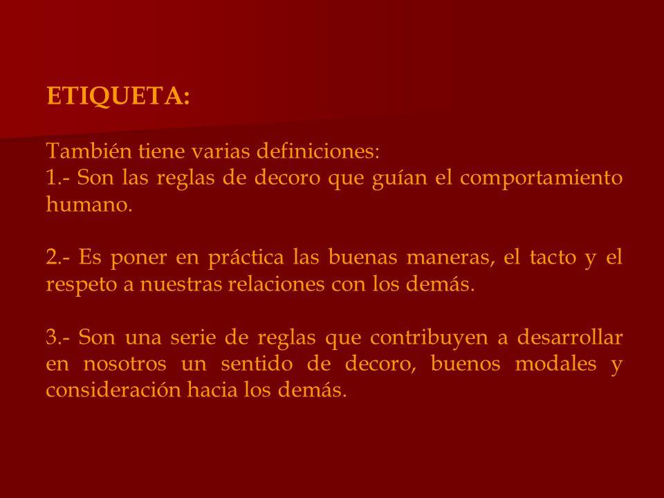 ETIQUETA: También tiene varias definiciones: