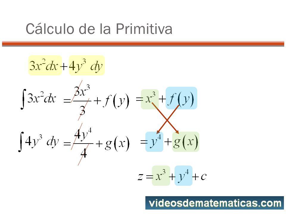 Cálculo de la Primitiva