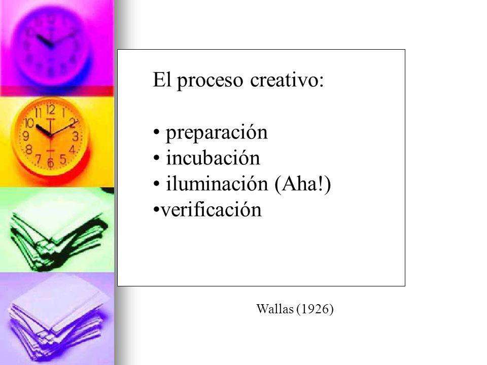 El proceso creativo: preparación incubación iluminación (Aha!)