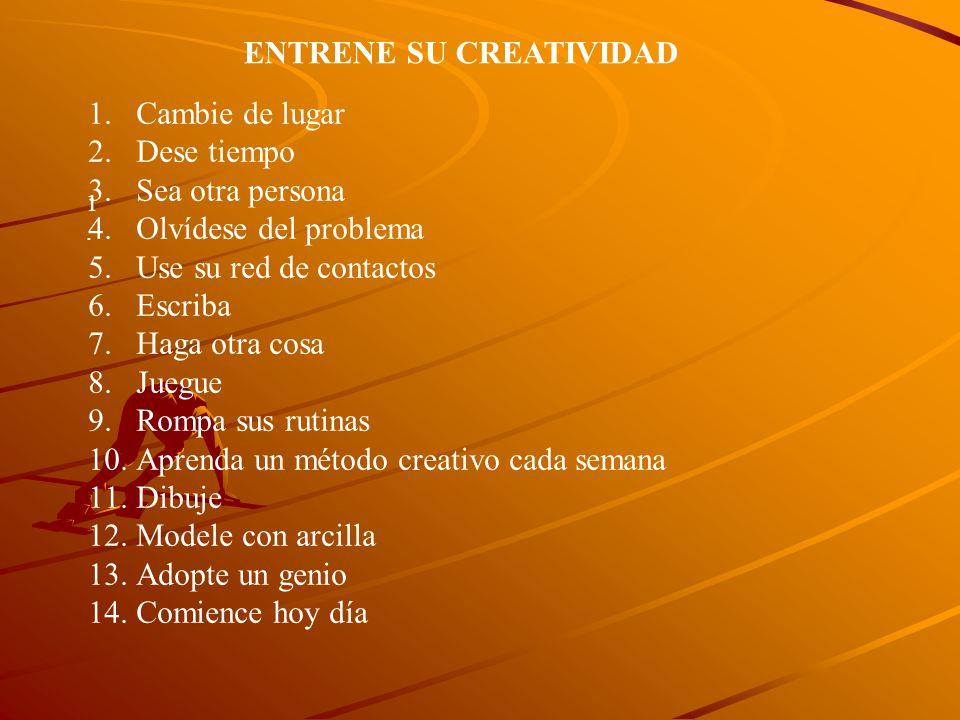 ENTRENE SU CREATIVIDAD