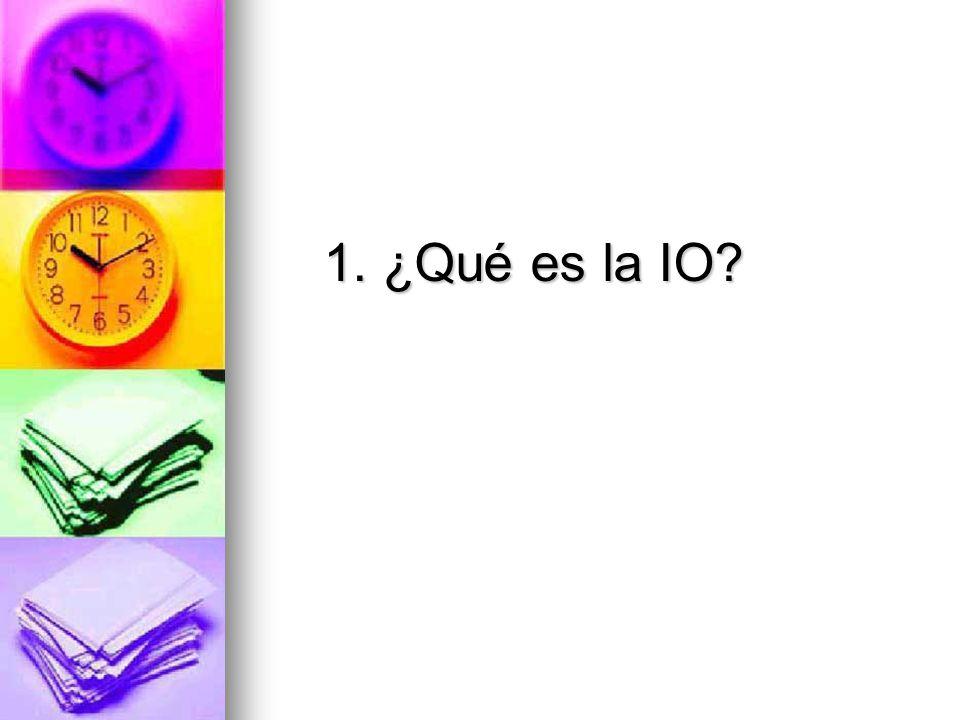 1. ¿Qué es la IO