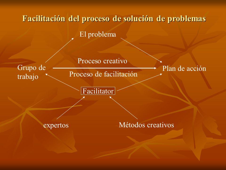 Facilitación del proceso de solución de problemas