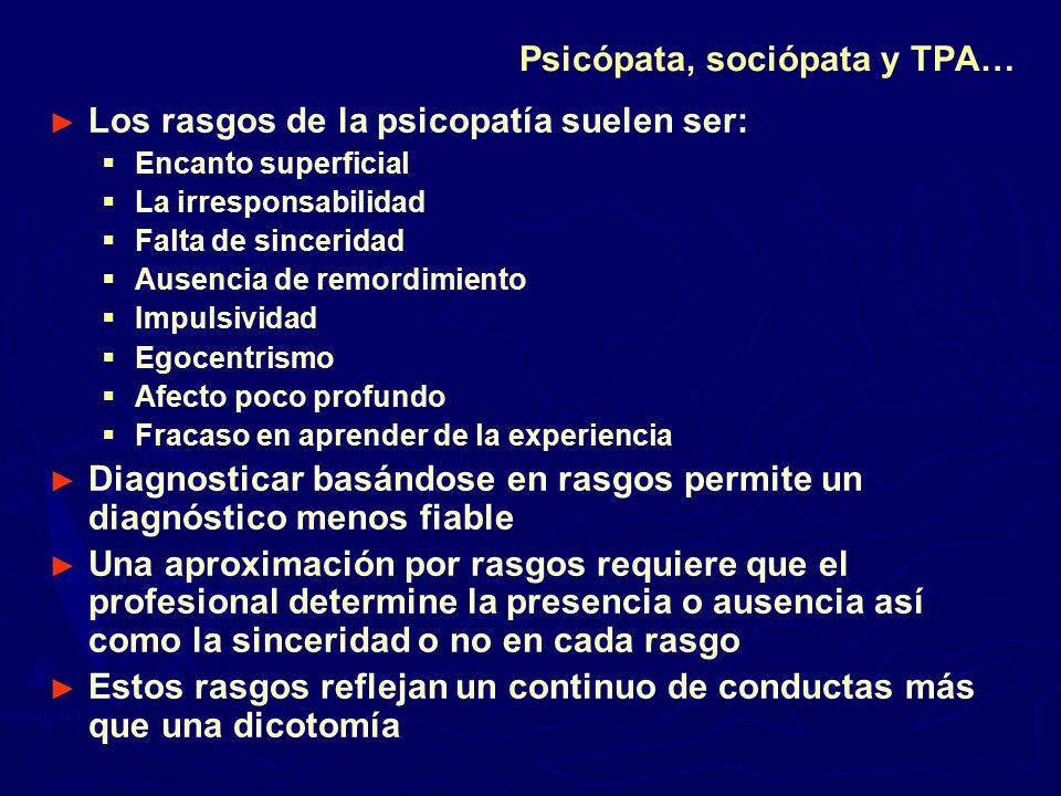 Psicópata, sociópata y TPA…