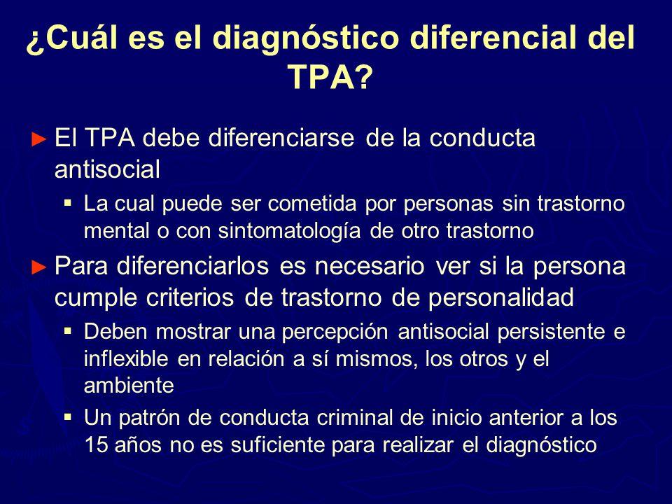 ¿Cuál es el diagnóstico diferencial del TPA