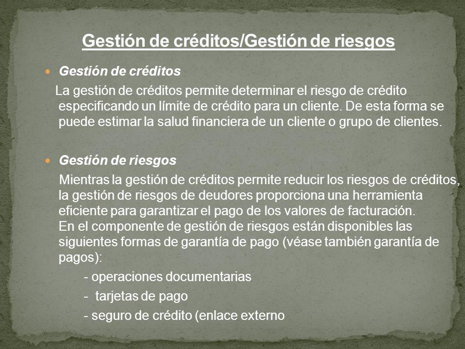 Gestión de créditos/Gestión de riesgos