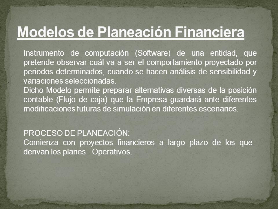 Modelos de Planeación Financiera
