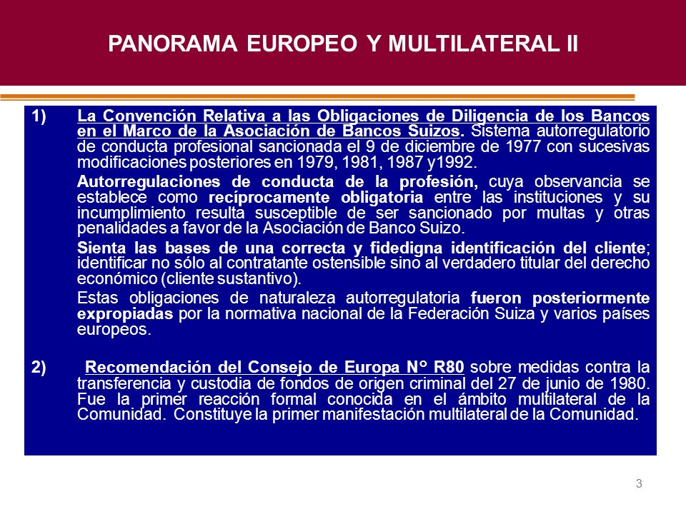 PANORAMA EUROPEO Y MULTILATERAL II