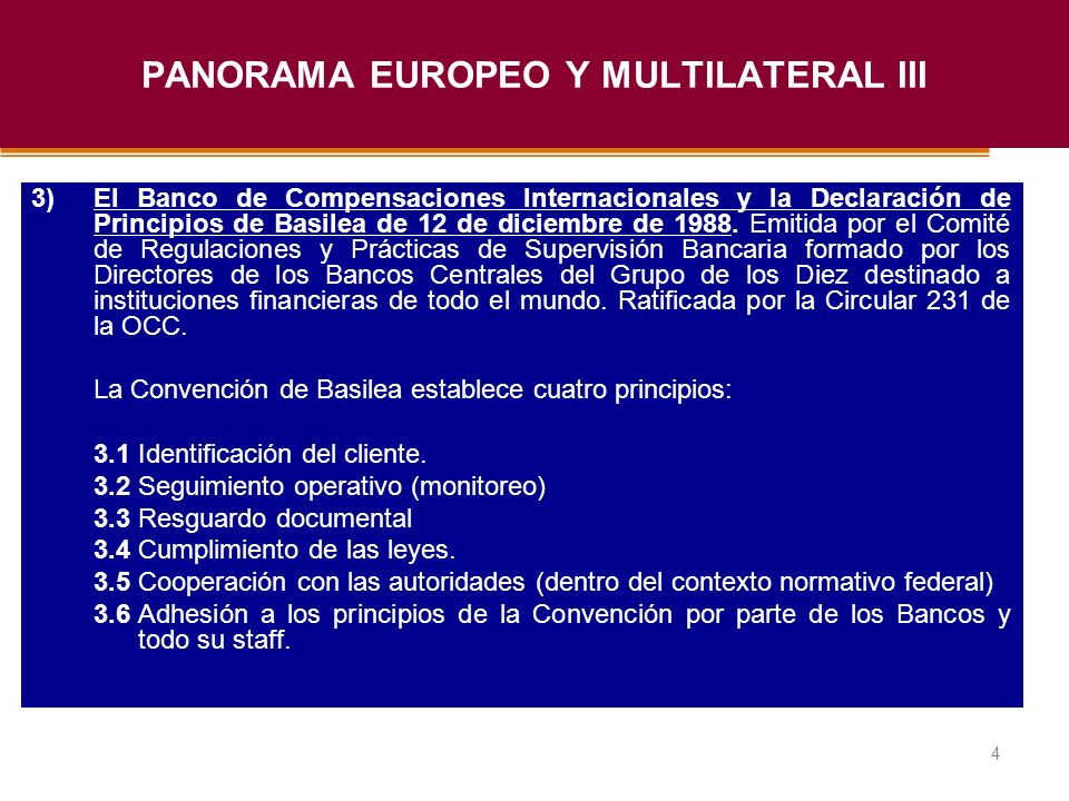 PANORAMA EUROPEO Y MULTILATERAL III