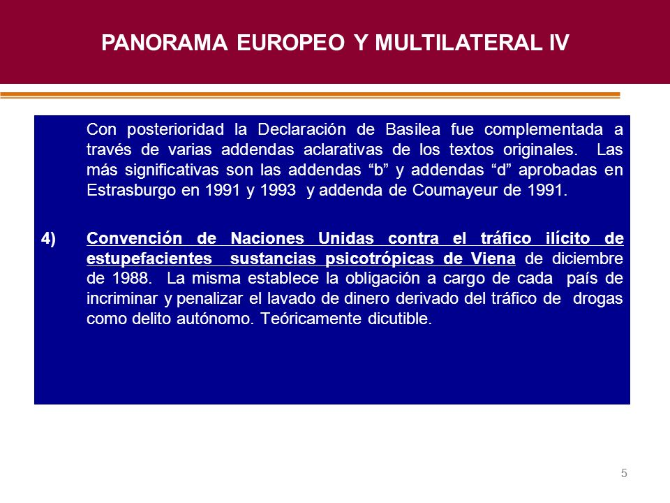 PANORAMA EUROPEO Y MULTILATERAL IV