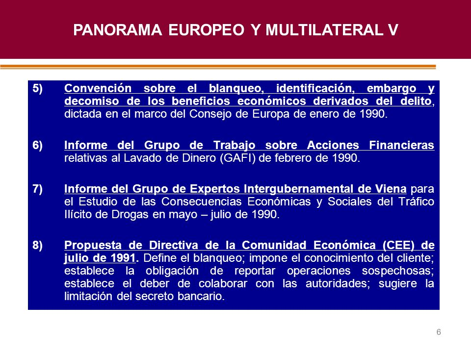 PANORAMA EUROPEO Y MULTILATERAL V
