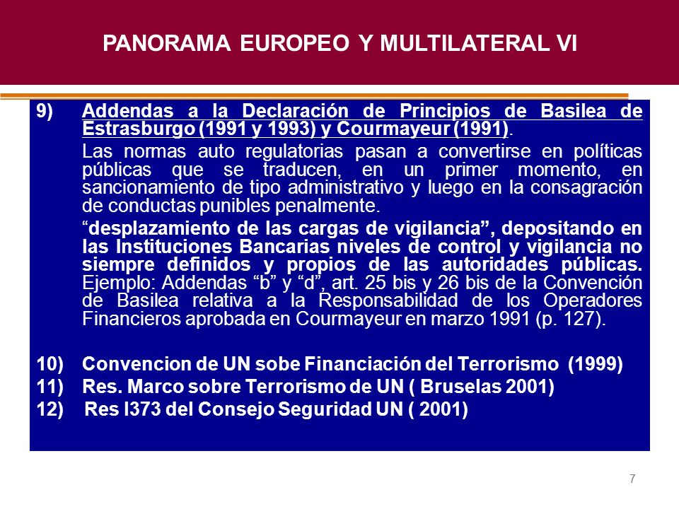 PANORAMA EUROPEO Y MULTILATERAL VI