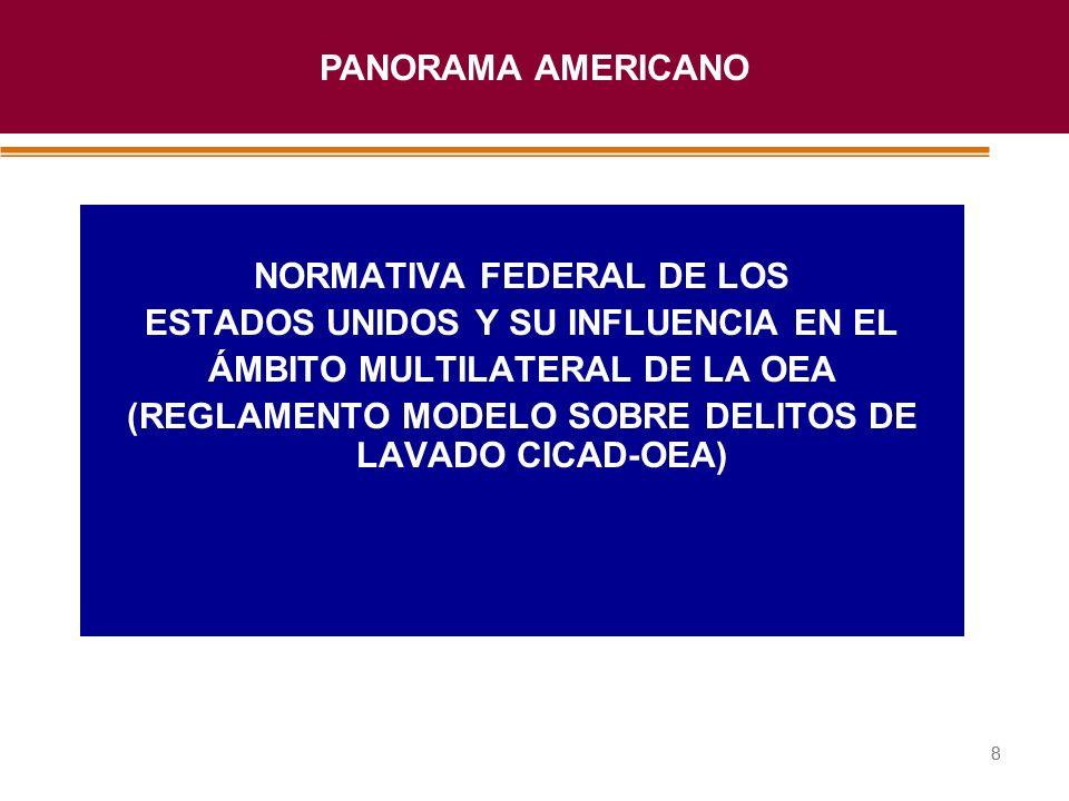 NORMATIVA FEDERAL DE LOS ESTADOS UNIDOS Y SU INFLUENCIA EN EL