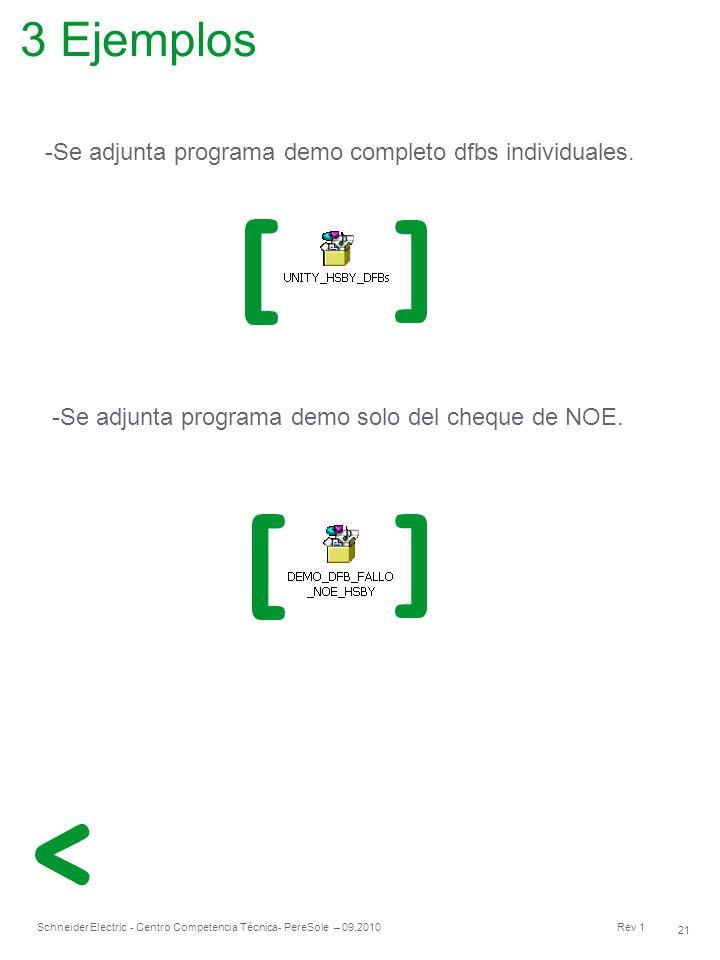 3 Ejemplos Se adjunta programa demo completo dfbs individuales.