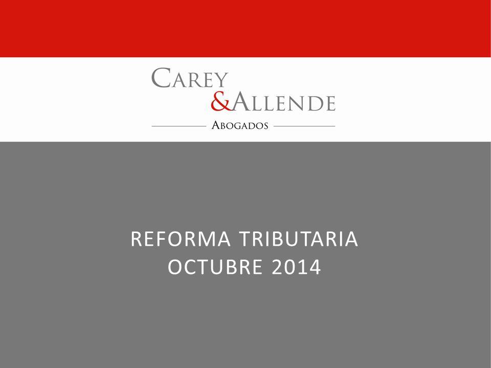 Reforma Tributaria OCTUbre 2014