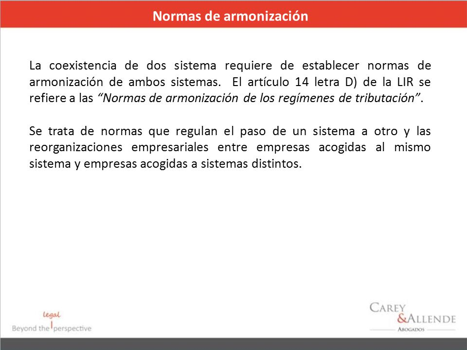 Normas de armonización