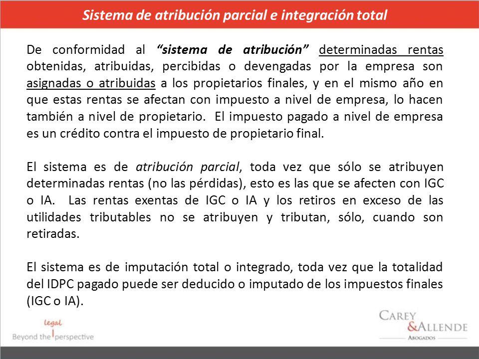 Sistema de atribución parcial e integración total