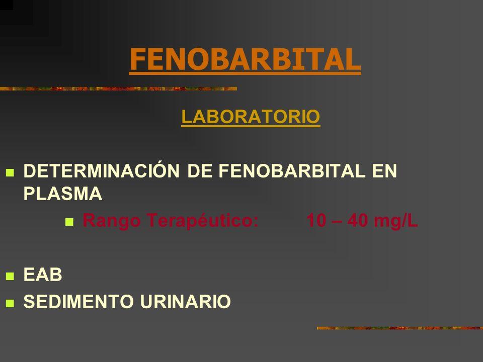 Rango Terapéutico: 10 – 40 mg/L
