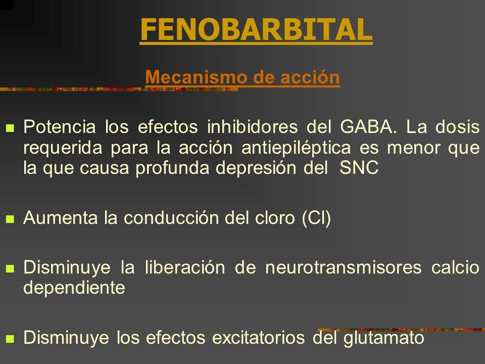 FENOBARBITAL Mecanismo de acción