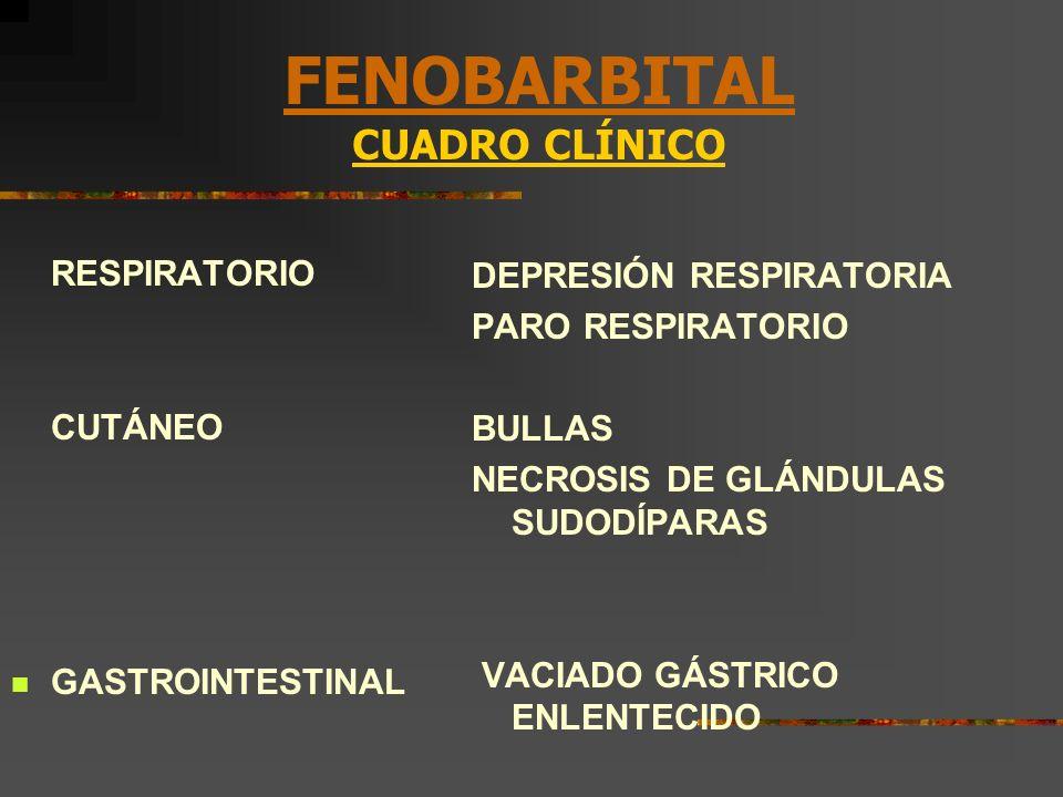 FENOBARBITAL CUADRO CLÍNICO