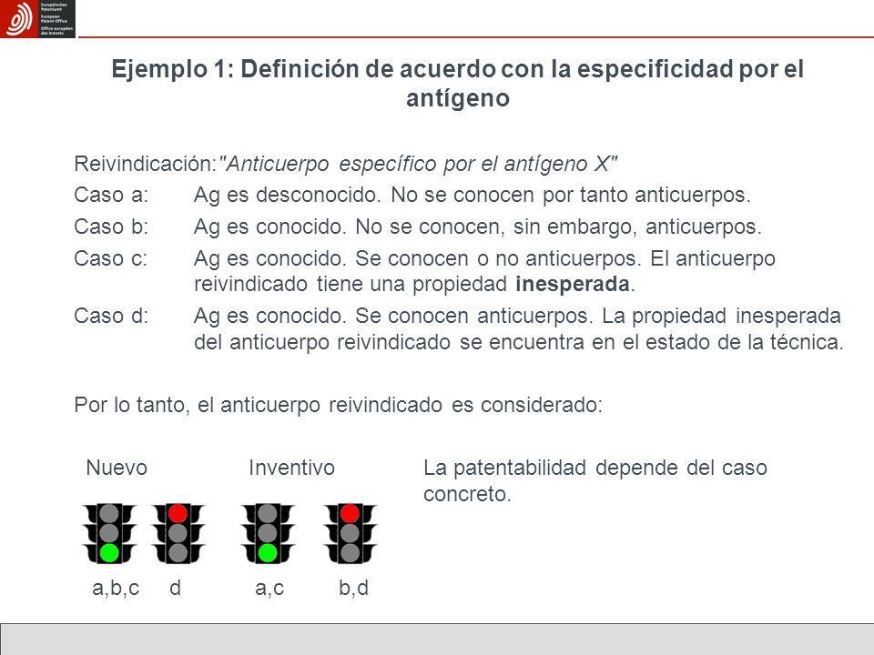 Ejemplo 1: Definición de acuerdo con la especificidad por el antígeno