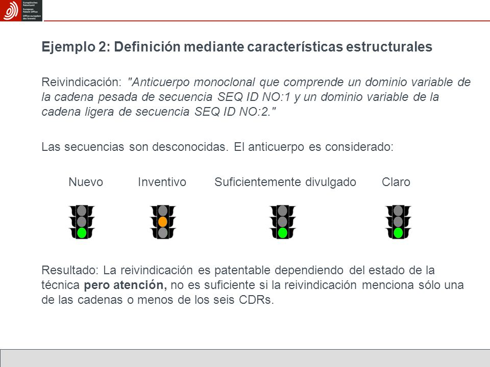 Ejemplo 2: Definición mediante características estructurales