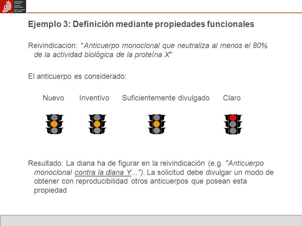 Ejemplo 3: Definición mediante propiedades funcionales