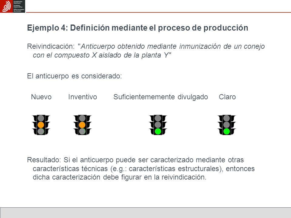 Ejemplo 4: Definición mediante el proceso de producción