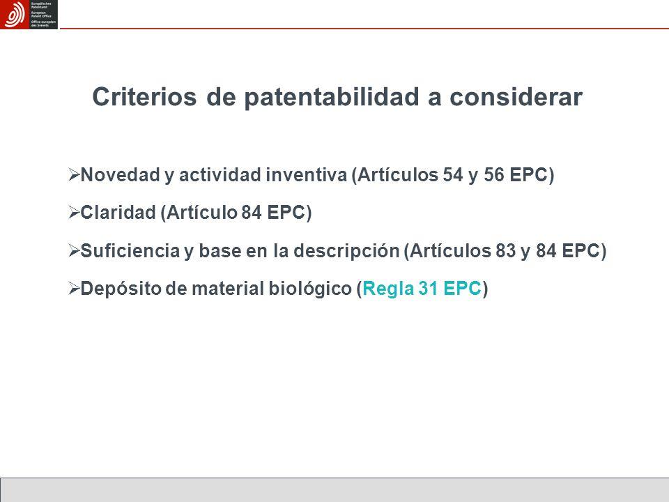 Criterios de patentabilidad a considerar