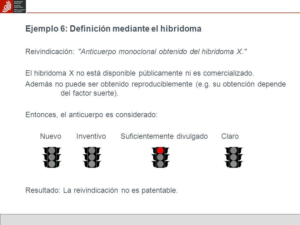 Ejemplo 6: Definición mediante el hibridoma