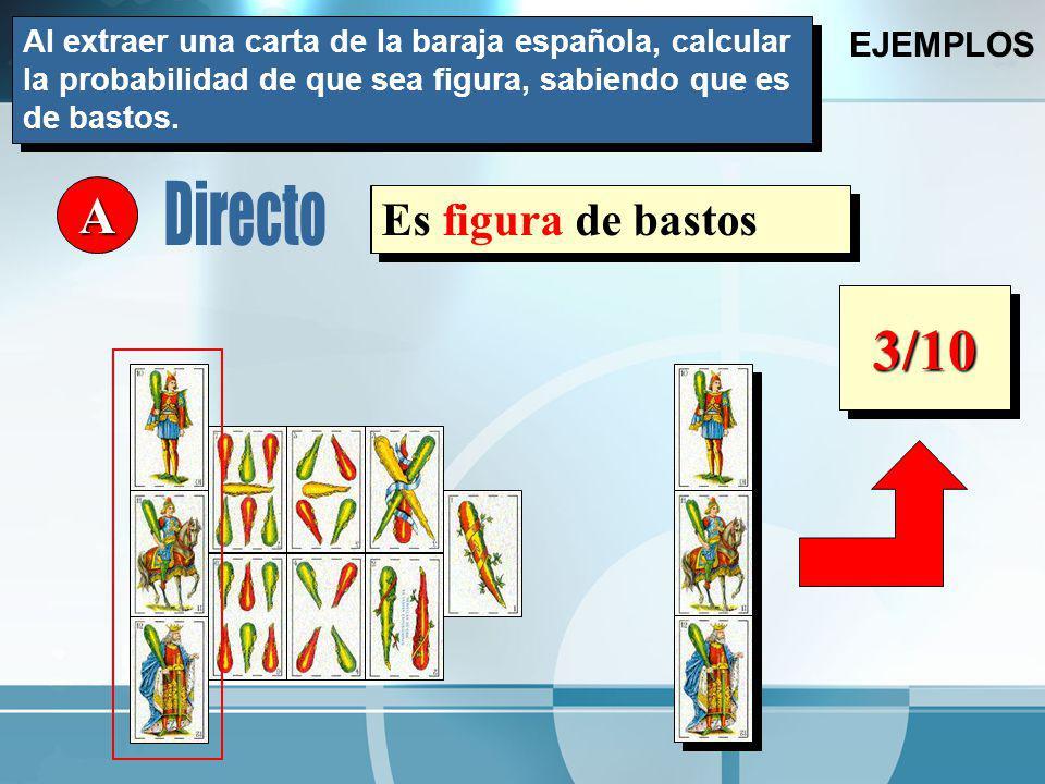 3/10 A Directo Es figura de bastos Es de bastos EJEMPLOS