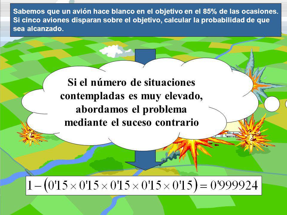 Si el número de situaciones contempladas es muy elevado,