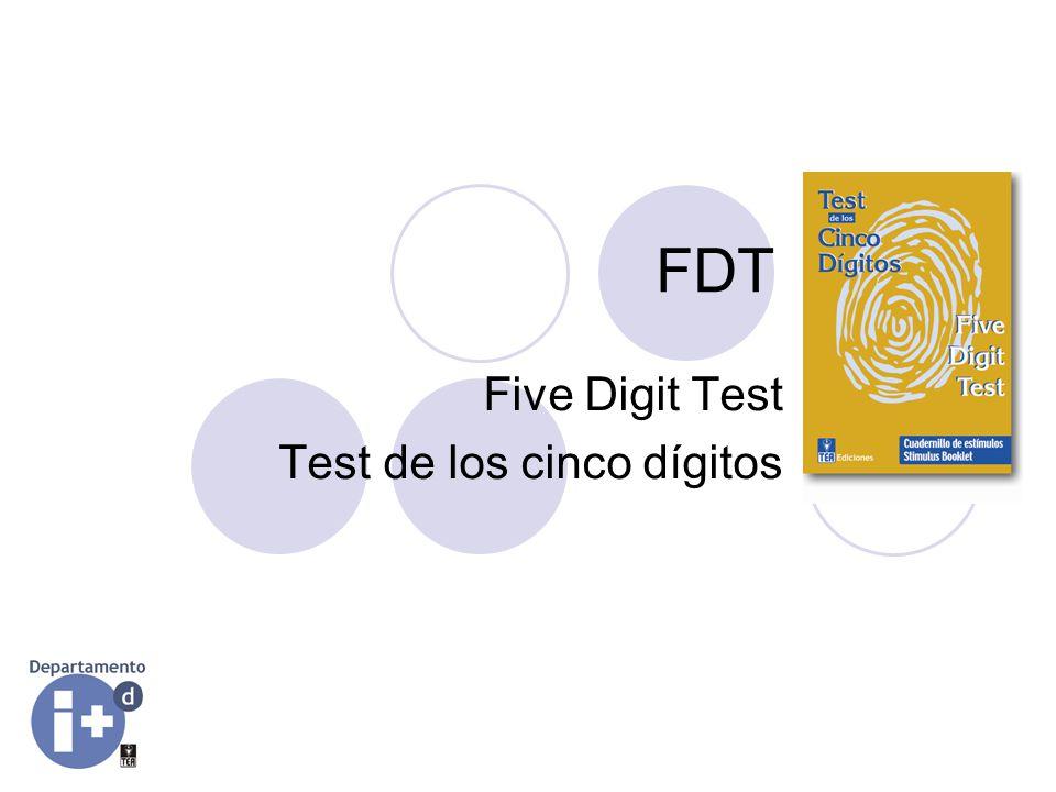 Five Digit Test Test de los cinco dígitos