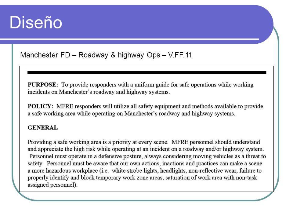 Diseño Manchester FD – Roadway & highway Ops – V.FF.11
