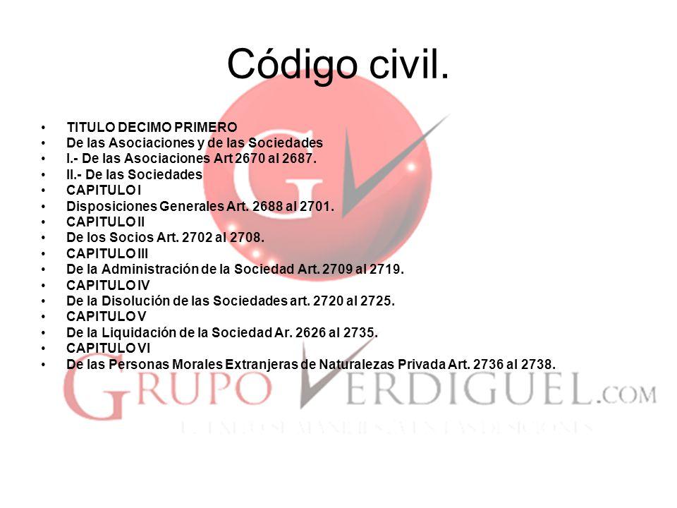 Código civil. TITULO DECIMO PRIMERO