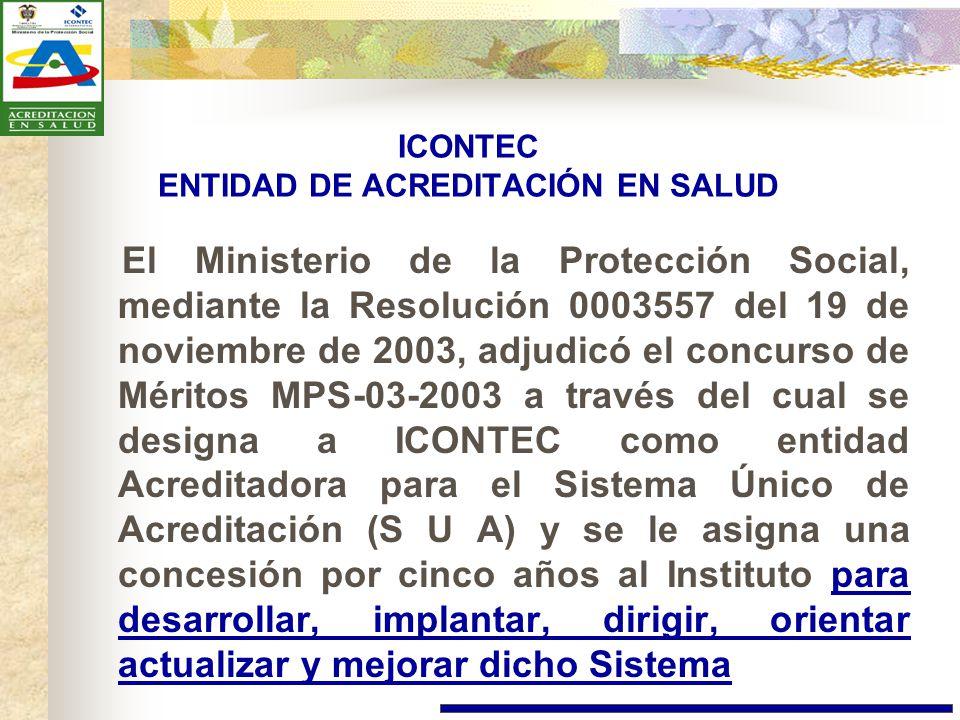 ICONTEC ENTIDAD DE ACREDITACIÓN EN SALUD
