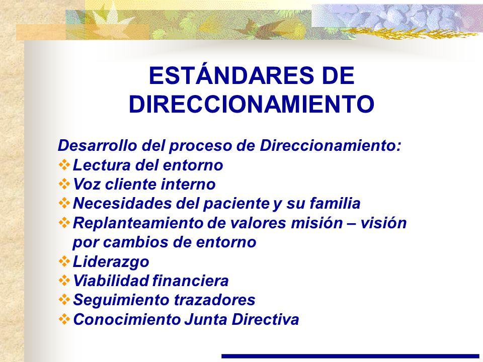 ESTÁNDARES DE DIRECCIONAMIENTO