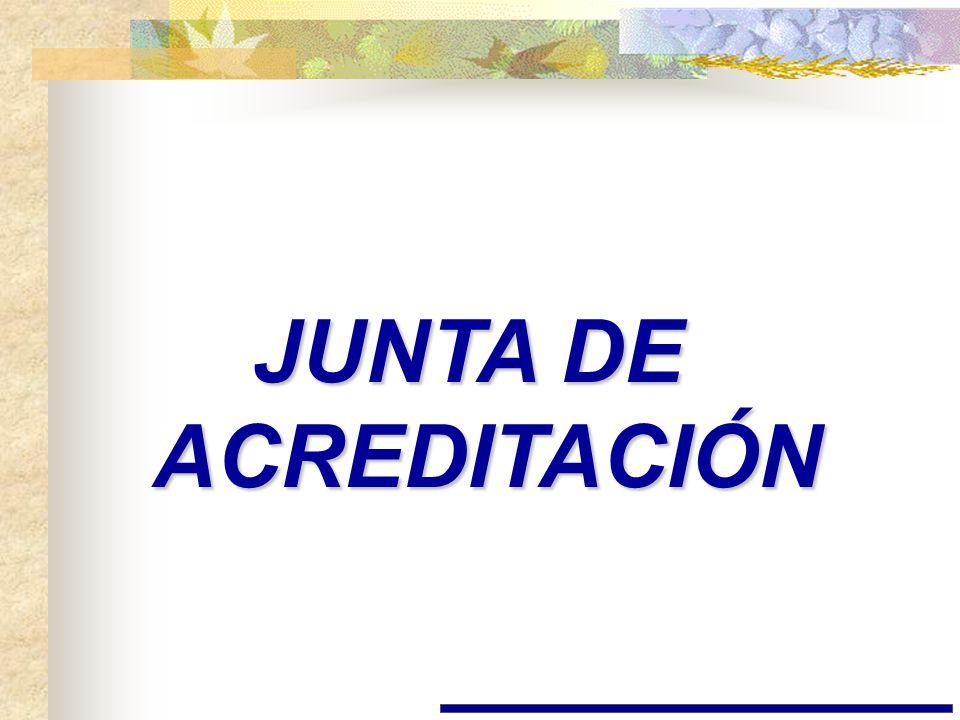 JUNTA DE ACREDITACIÓN