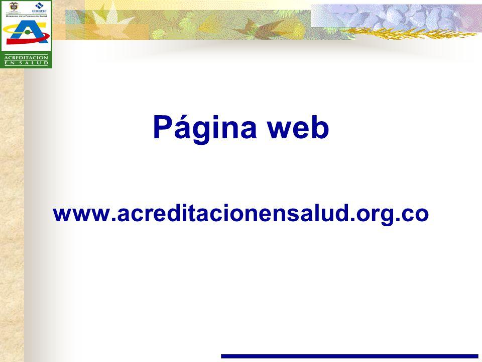 Página web www.acreditacionensalud.org.co
