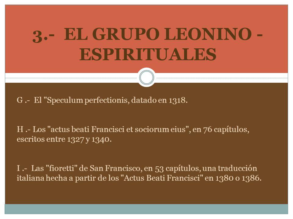 3.- EL GRUPO LEONINO - ESPIRITUALES