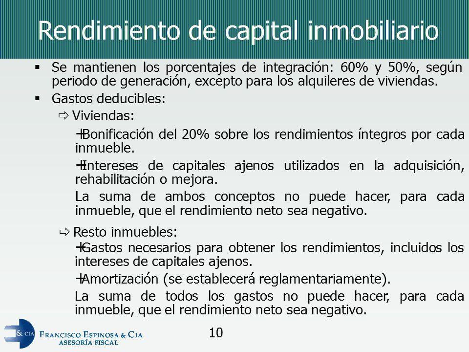 Rendimiento de capital inmobiliario