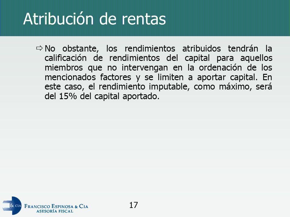 Atribución de rentas
