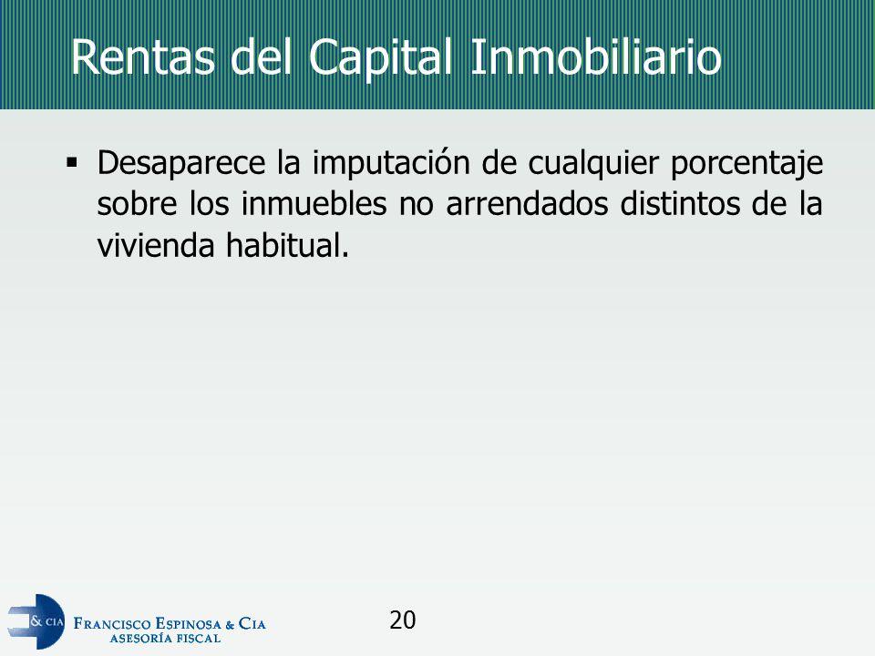 Rentas del Capital Inmobiliario