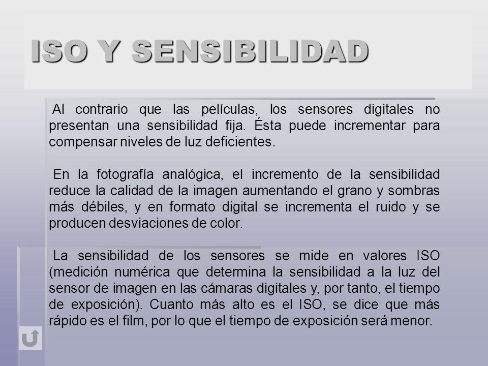 ISO Y SENSIBILIDAD