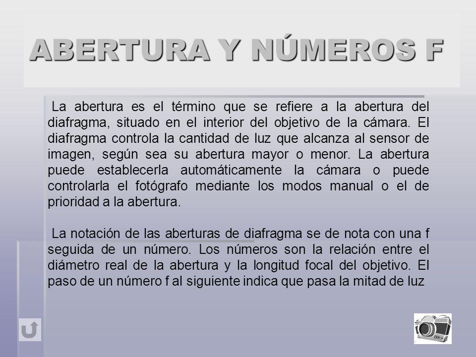 ABERTURA Y NÚMEROS F
