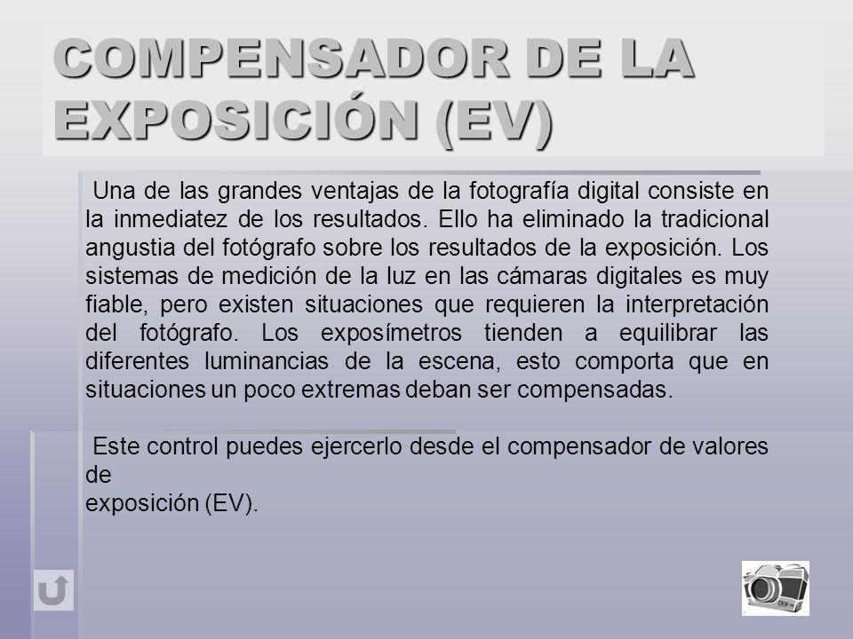 COMPENSADOR DE LA EXPOSICIÓN (EV)