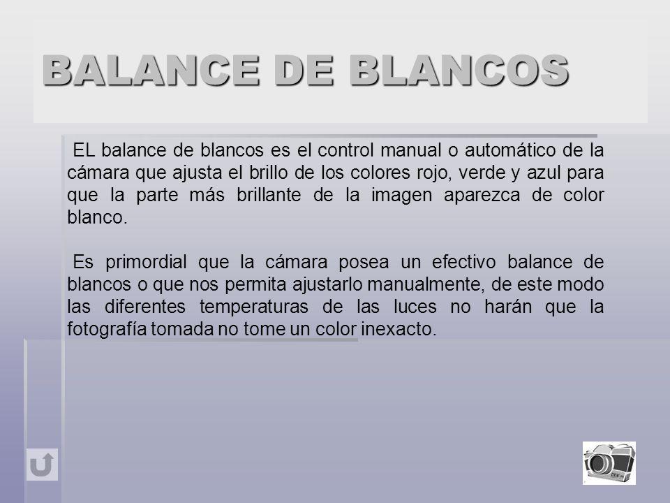 BALANCE DE BLANCOS